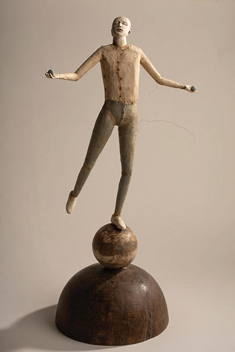 Cathy Rose Figurative Sculpture - A Delicate Balance