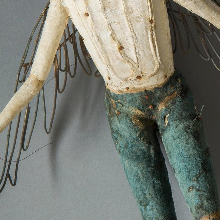 Flight - Gray Figurative Sculpture by Cathy Rose
