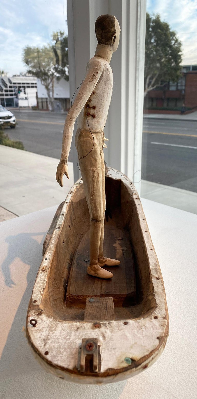Leaving Shore - Brown Figurative Sculpture by Cathy Rose
