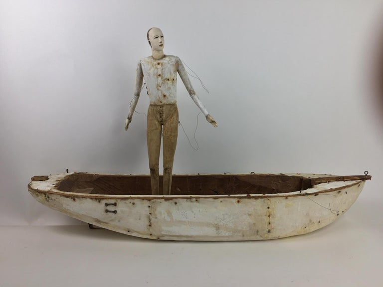 Cathy Rose Figurative Sculpture - Leaving Shore
