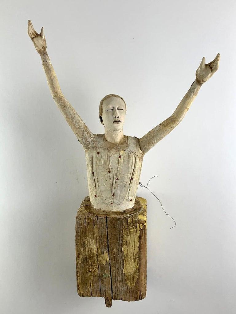 Cathy Rose Figurative Sculpture - Reach 2