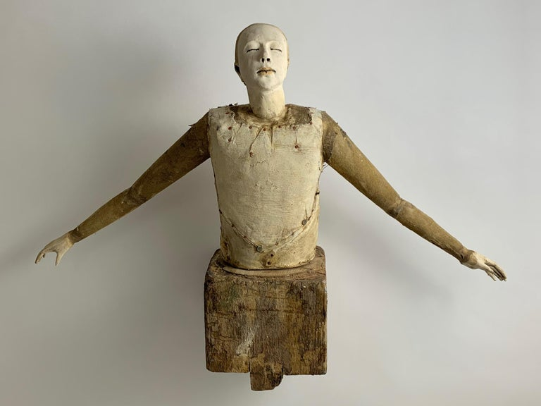Release - Brown Figurative Sculpture by Cathy Rose