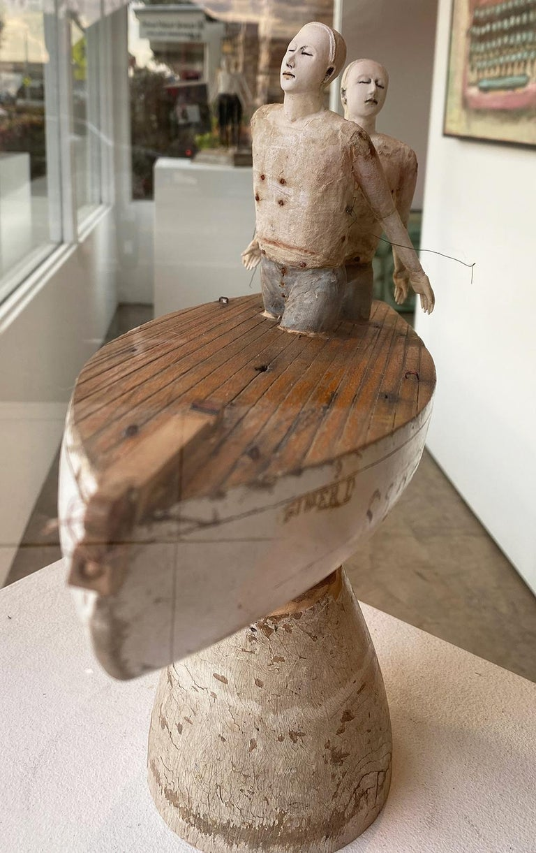 Same Boat - American Realist Sculpture by Cathy Rose