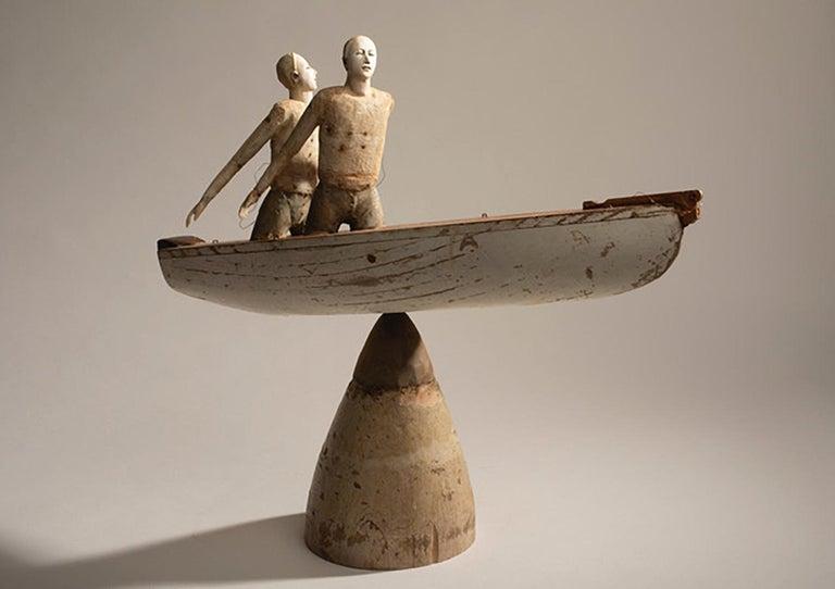 Cathy Rose Figurative Sculpture - Same Boat