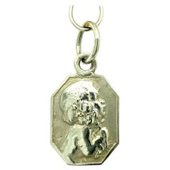 Cathy Waterman Platinum Chain and Silhouette Pendant