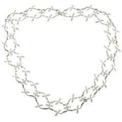 Cathy Waterman Platinum Diamond Necklace