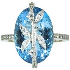 Cathy Waterman Topaz Diamond Earrings