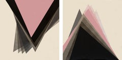 Geometric Soul - Diptych, Painting, Acrylic on Canvas