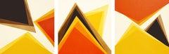 Orange Triptych, Painting, Acrylic on Canvas