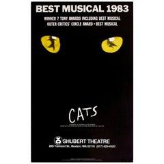 """Cats"" 1980s U.S. Window Card Theatre Poster"