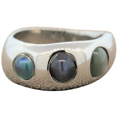 Cats Eye Alexandrite Platinum Ring