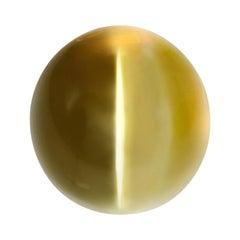 Cat's Eye Chrysoberyl Ring Gem 8.04 Carat GIA Certified Loose Gemstone