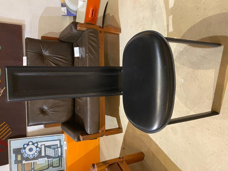 Leather Cattelan Italia Suite of 4 Chairs For Sale