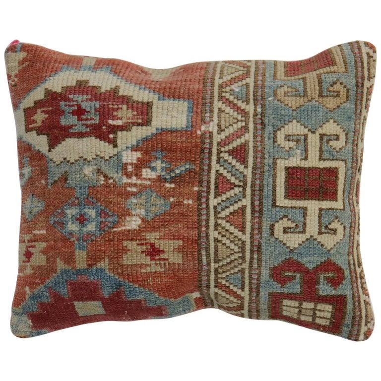 Caucasian Rug Rustic Pillow For Sale