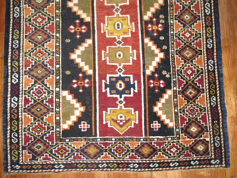 Hand-Woven Caucasian Shirvan Small Rug For Sale