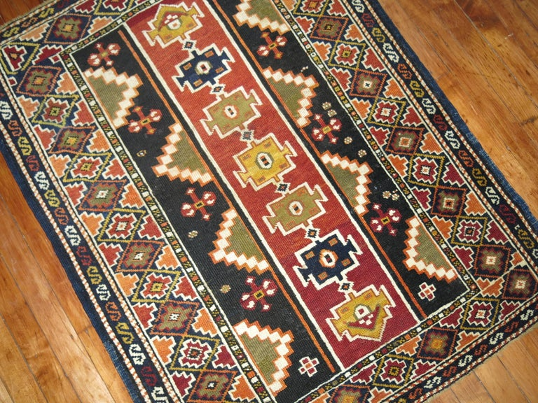 Caucasian Shirvan Small Rug In Excellent Condition For Sale In New York, NY