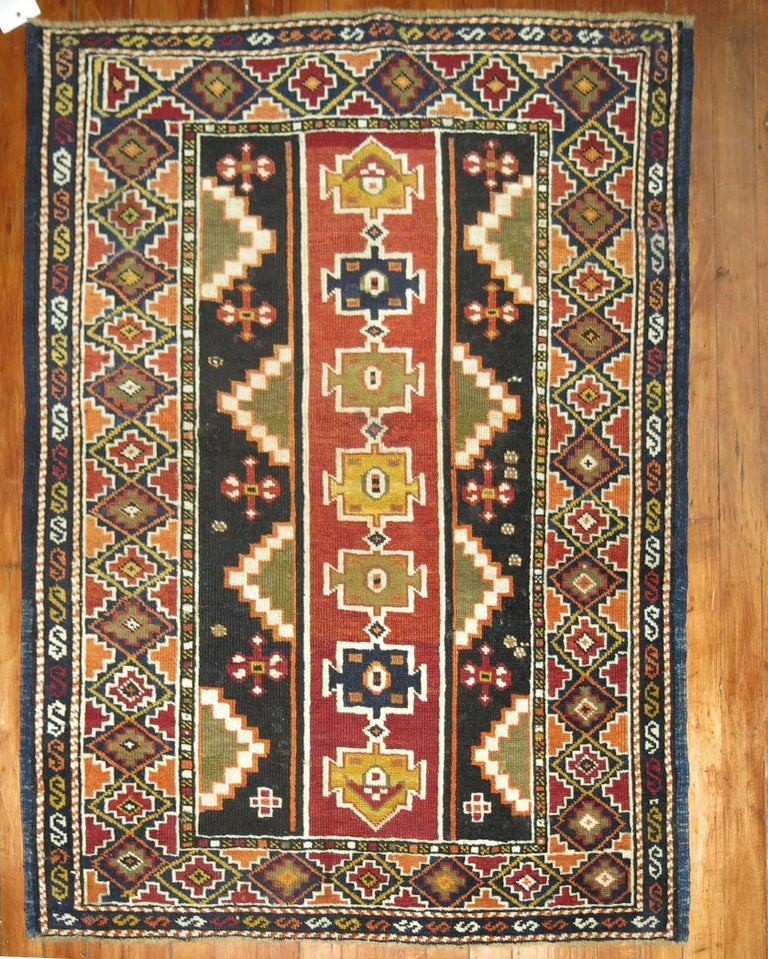 20th Century Caucasian Shirvan Small Rug For Sale