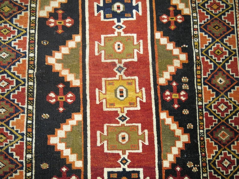 Wool Caucasian Shirvan Small Rug For Sale