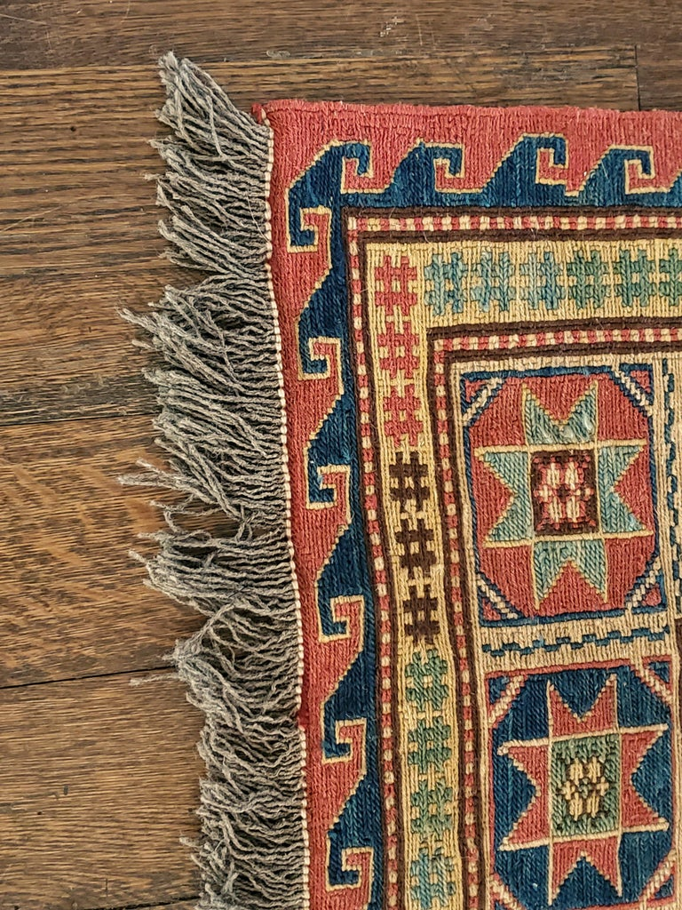 Caucasian Sulmak Design Rug In Excellent Condition For Sale In East Hampton, NY