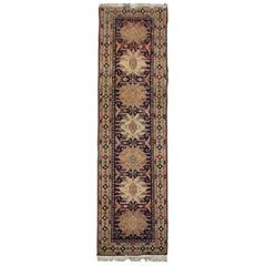 Caucasian Vintage Runner Rug, Handmade Carpet Oriental Rug Wool Stair Runner