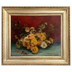 """Cauchois Eugène Henri """"Bouquet of flowers"""""""