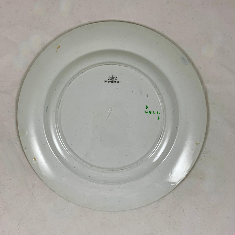 Cauldon English Chinoiserie 'Bird of Paradise' Chintz Transferware Plates, S/4 For Sale 10