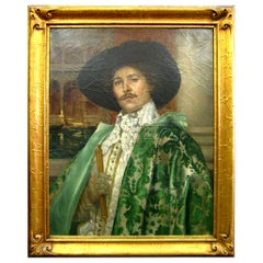 'Cavalier in a Green Cape' by A. d'Ambrossi '19th Century, Italian'