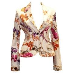 Cavalli Floral Cotton Jacket