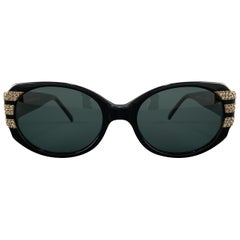 CAVIAR Black & Gold Swarovski Crystal Studded Jubilee Series Sunglasses