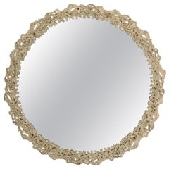 Cay Mirror in Matte Casted Brass