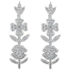 Cayen Collection Diamond Flower Hoops