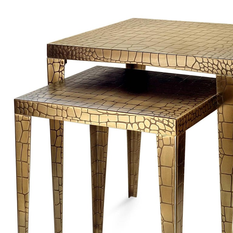Side table Cayman brass