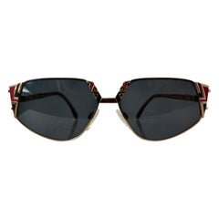 Cazal 1990s Geometric Cateye Sunglasses