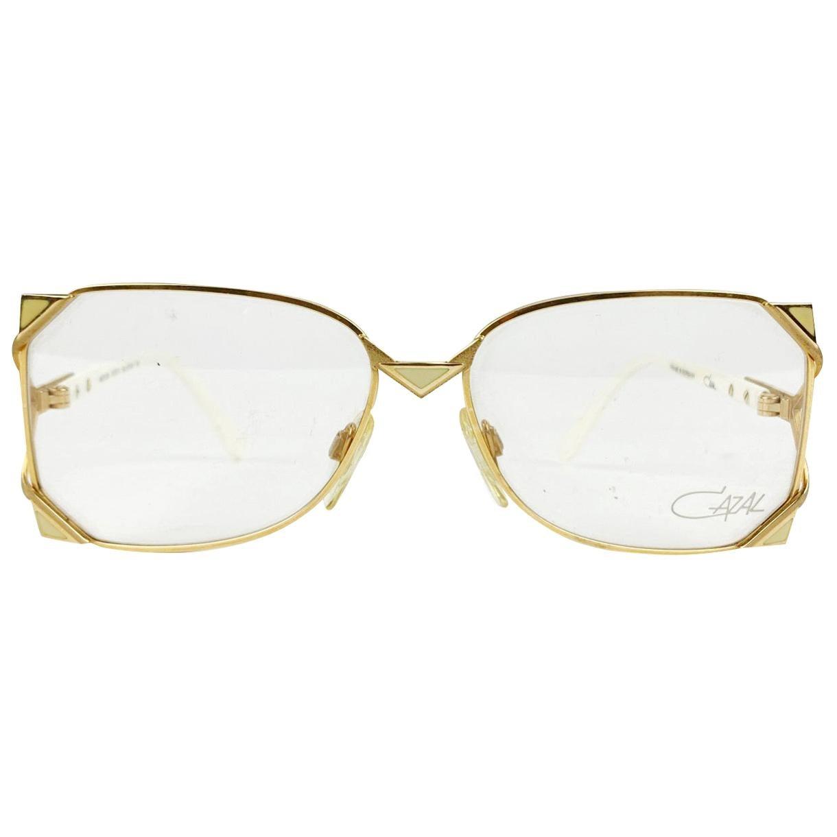 Cazal Vintage Gold Eyeglasses 236 57/15 125 mm West Germany