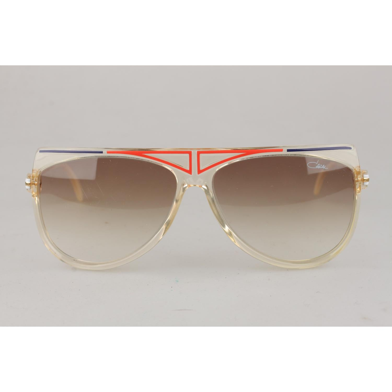6f38ba50358e Cazal Vintage Rare Unisex Large Sunglasses Mod. 355 Original Lens 65mm For  Sale at 1stdibs