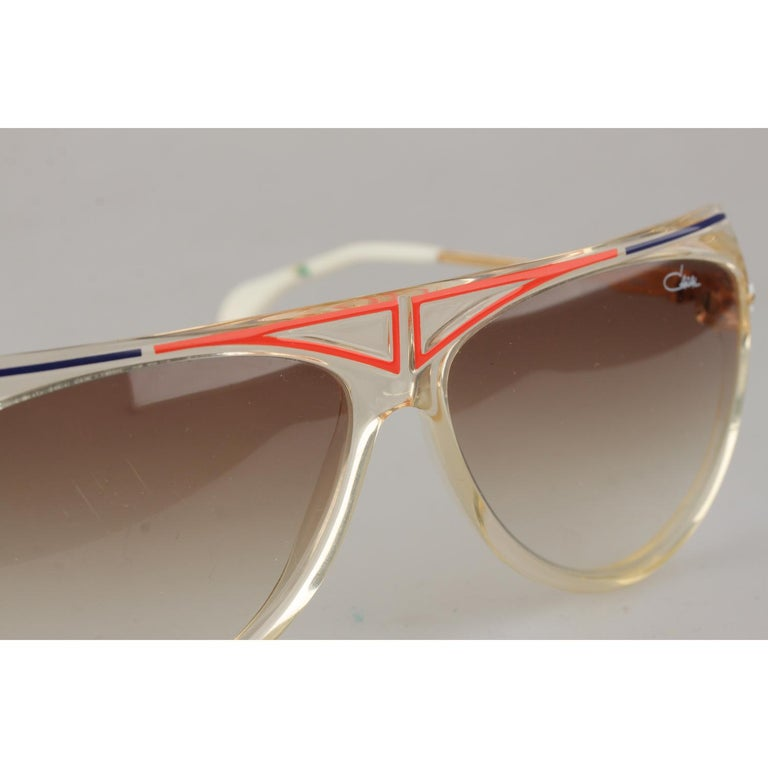 2eb112c9bba3 Women's or Men's Cazal Vintage Rare Unisex Large Sunglasses Mod. 355  Original Lens 65mm For