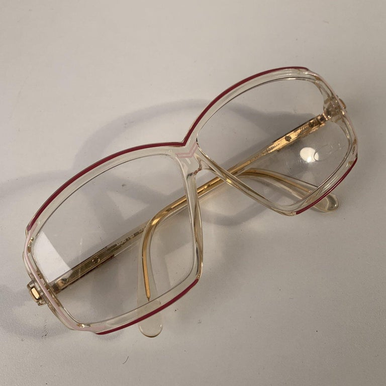 Cazal Vintage Unisex Eyeglasses Mod 153 Col 168 59mm West Germany In Excellent Condition For Sale In Rome, Rome