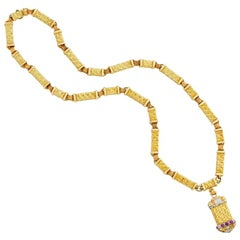 Cazzaniga Long Sautoir Necklace