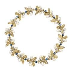 Cazzaniga Pearls Sapphire Necklace