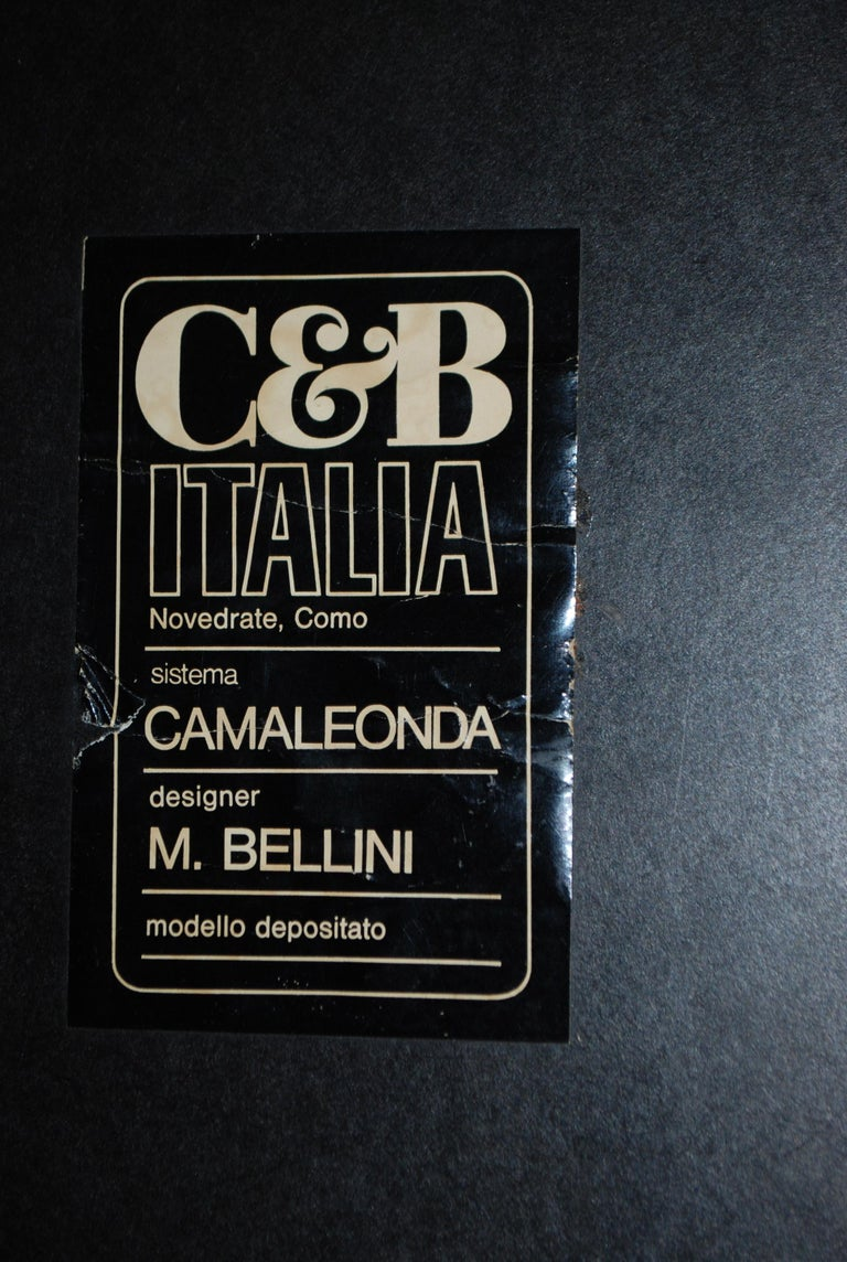 C&B B&B Italia Model Camaleonda Mario Bellini Brandy Cognac Leather Sofa For Sale 13