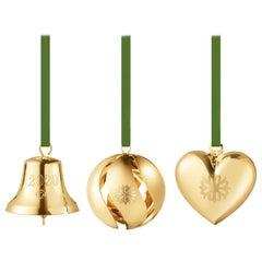 Cc 2020 3 Pcs Gift Set Bell, Ball, Heart Gold