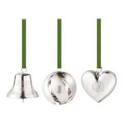 Cc 2020 3 Pcs Gift Set Bell, Ball, Heart Palladium