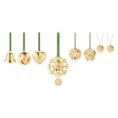 Cc 2020 8 Pcs Gift Set Bell, Ball, Heart Gold