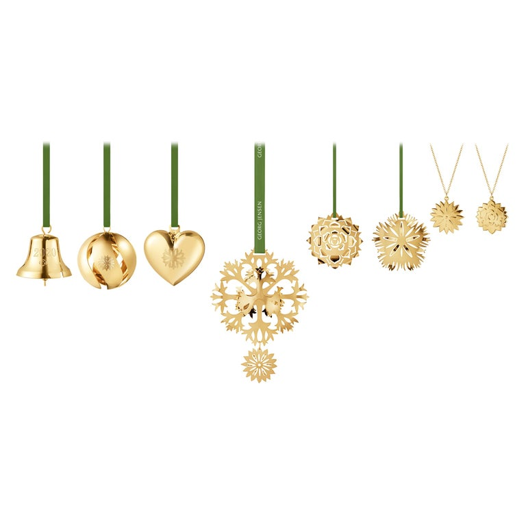Cc 2020 8 Pcs Gift Set Bell, Ball, Heart Gold For Sale