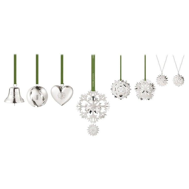 Cc 2020 8 Pcs Gift Set Bell, Ball, Heart Palladium For Sale