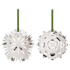 CC 2020 Holiday Ornament Ice Dianthus & Rosette Palladium
