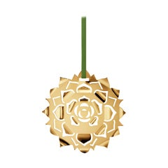 CC 2020 Holiday Ornament Ice Rosette Gold