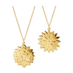 CC 2020 Ornament Ice Dianthus & Rosette Gold