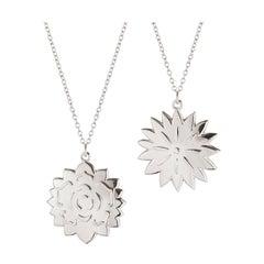 CC 2020 Ornament Ice Dianthus & Rosette Palladium