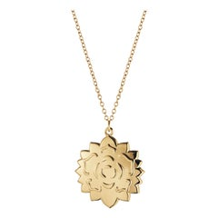 CC 2020 Ornament Ice Rosette Gold